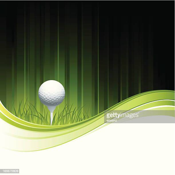 golf background - teeing off stock illustrations, clip art, cartoons, & icons