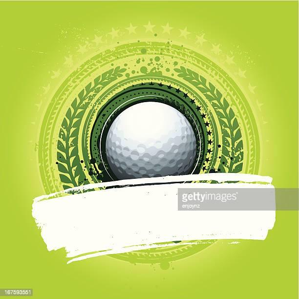 ilustrações, clipart, desenhos animados e ícones de fundo de bola de golfe - green de golfe