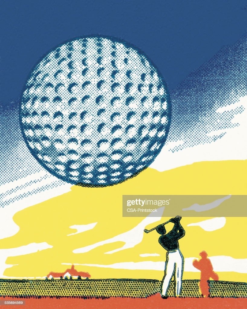 Golf Ball : Stockillustraties