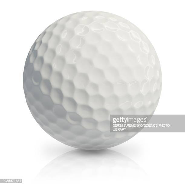 golf ball, illustration - golf ball stock illustrations