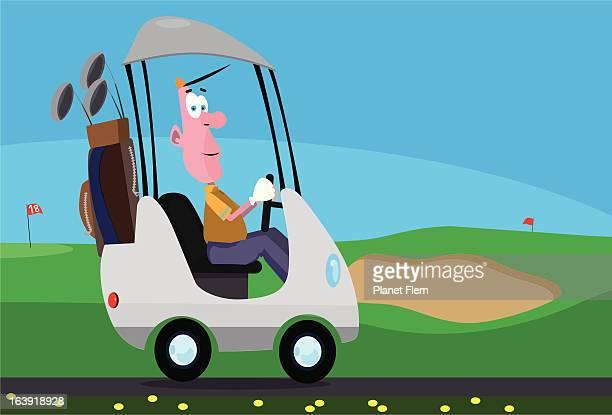 golf cart - sand trap stock illustrations, clip art, cartoons, & icons