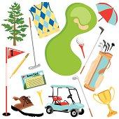 Golf Clip Art Icons