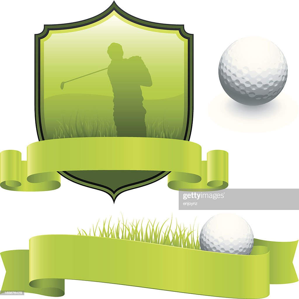 Golf designs : stock illustration