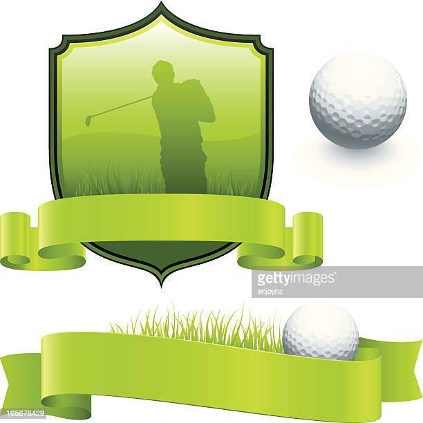 golf designs - golf tournament stock illustrations, clip art, cartoons, & icons