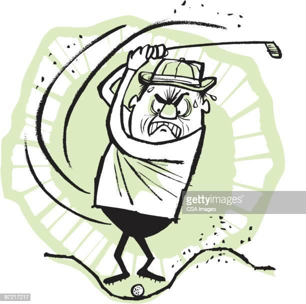 golf - sand trap stock illustrations, clip art, cartoons, & icons