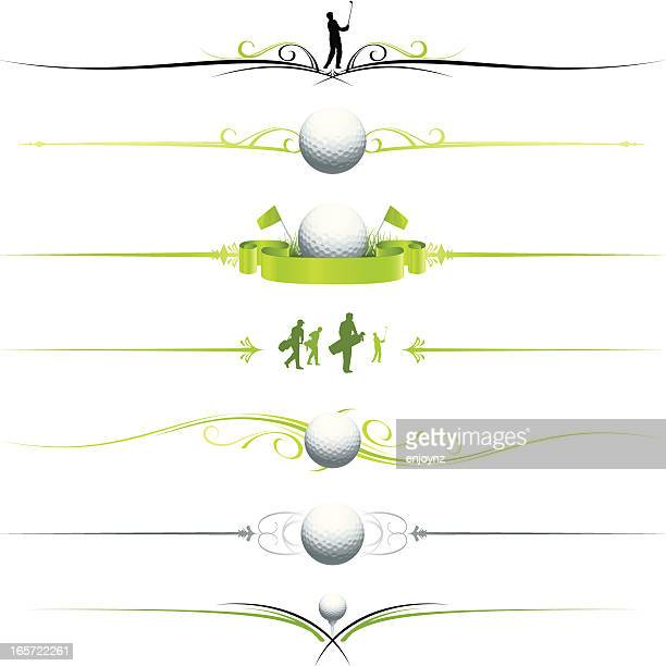 golf page dividers - green golf course stock illustrations, clip art, cartoons, & icons