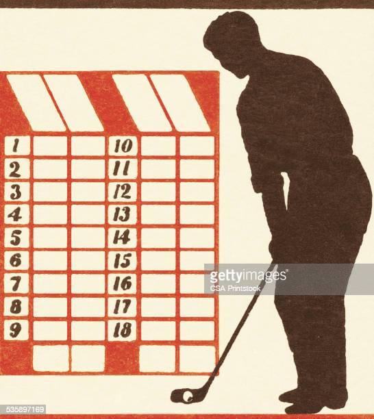 Golfer and Scorecard