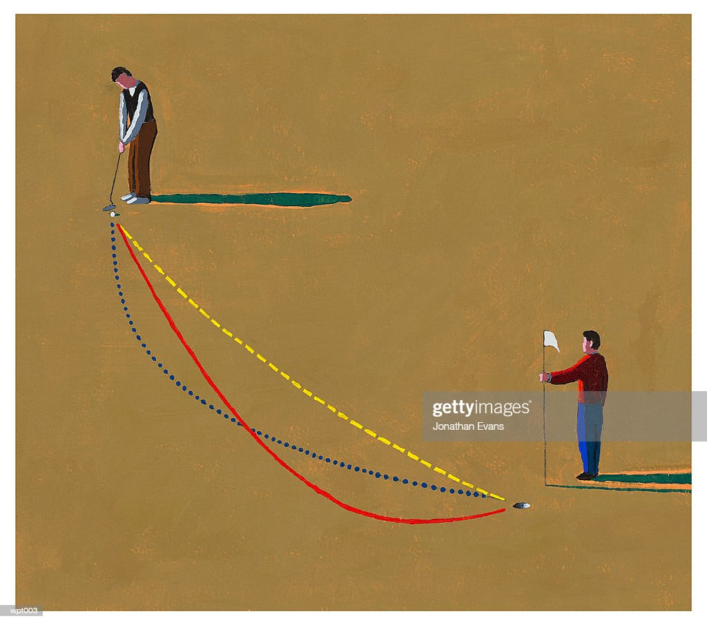 Golfing Strategy : Stockillustraties