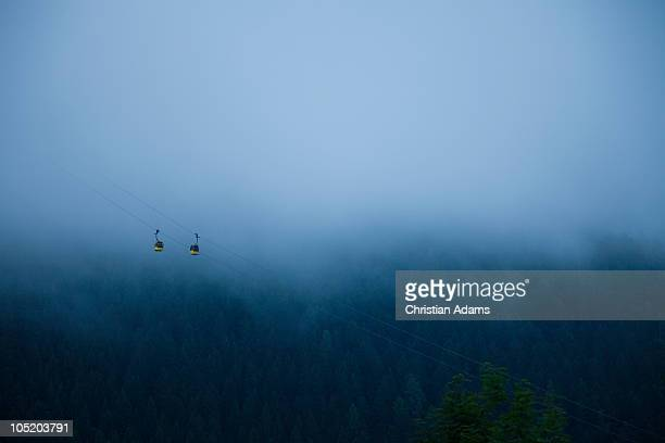 gondolas with fod - fog stock illustrations
