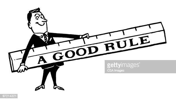 a good rule - ruler stock illustrations