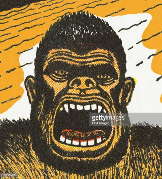 gorilla - spleen stock illustrations