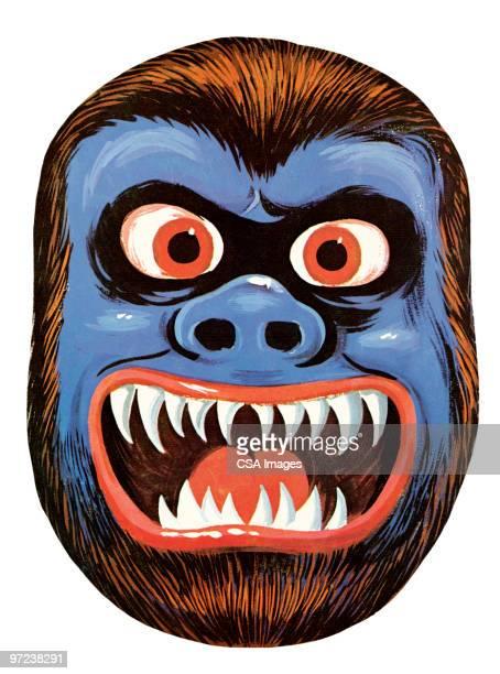 gorilla - roaring stock illustrations