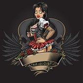 Goth Girl Tattoo Design