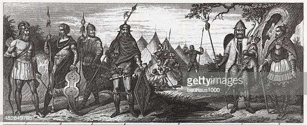 Gothic, British and French Tribes