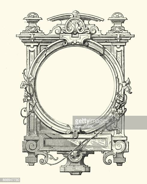 gothic style frame - archival stock illustrations, clip art, cartoons, & icons