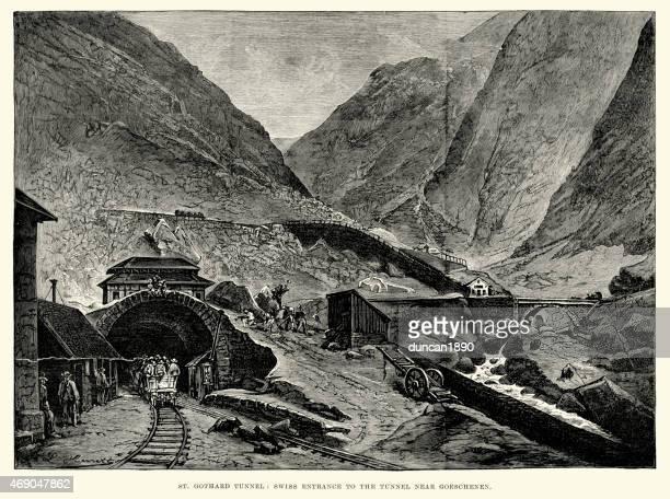 Gotthard Tunnel, Switzerland 1882
