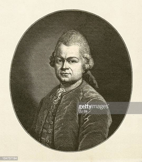 Gotthold Ephraim Lessing (1729-1781), wood engraving, published in 1879