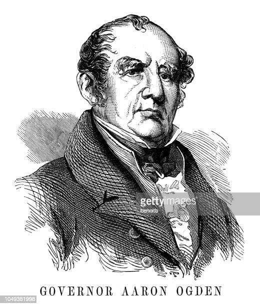 governor aaron ogden - governor stock illustrations, clip art, cartoons, & icons