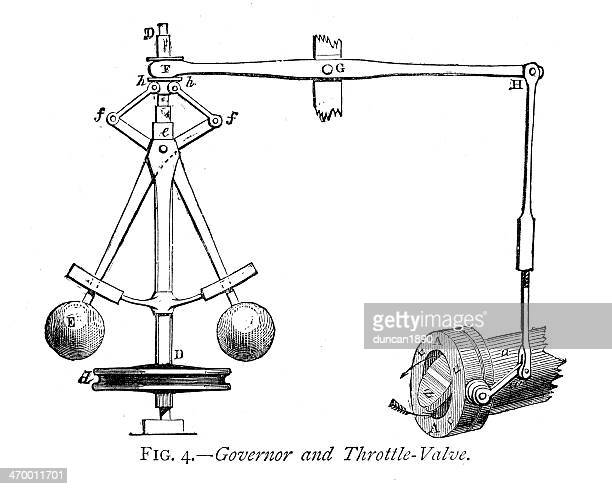 governor and throttle valve - governor stock illustrations, clip art, cartoons, & icons