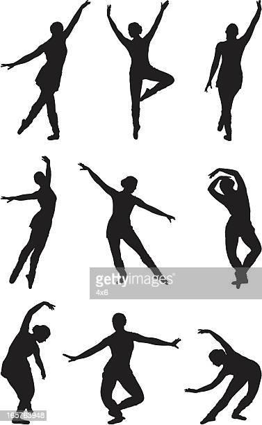 ilustraciones, imágenes clip art, dibujos animados e iconos de stock de baile encantador ballerina ballet - zapatilla de ballet
