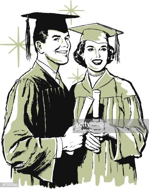 ilustrações, clipart, desenhos animados e ícones de graduates - relief emotion