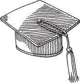 Graduation Hat Drawing