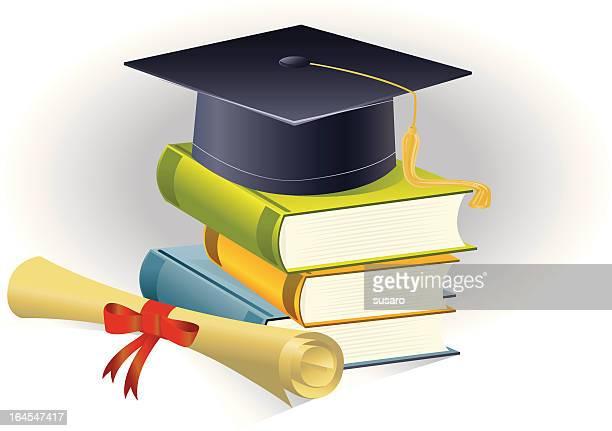 graduation symbol - master's degree stock illustrations