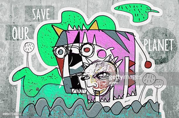 graffiti  background - concrete wall stock illustrations, clip art, cartoons, & icons