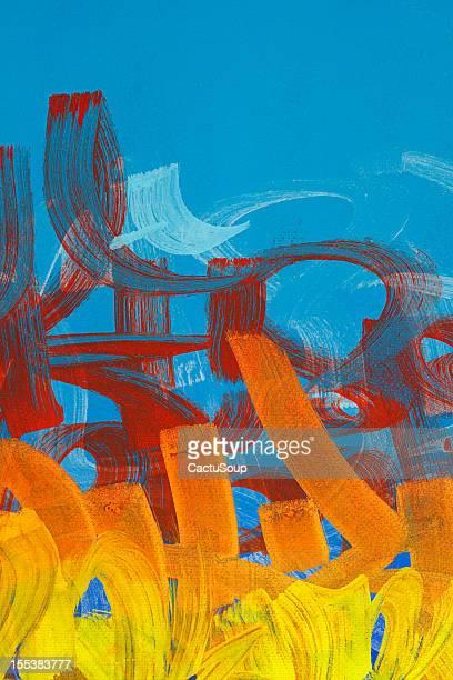 illustrazioni stock, clip art, cartoni animati e icone di tendenza di graffiti di vernice. - pergamena materiale tessile