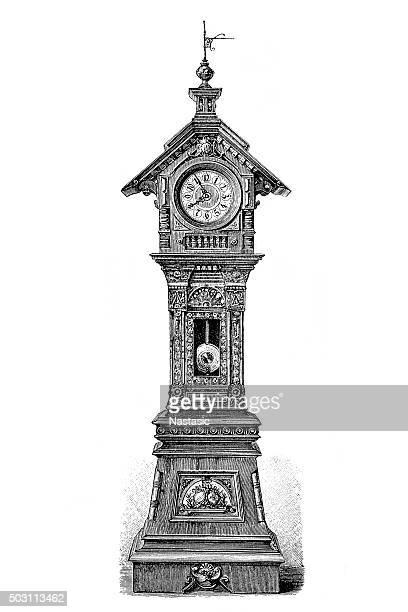 60点の大時計のイラスト素材クリップアート素材マンガ素材アイコン