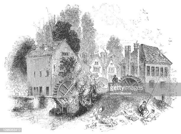 Grange Mills at Bidford-on-Avon in Warwickshire, England