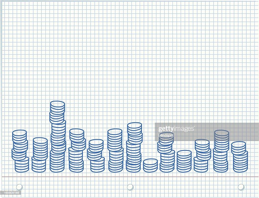 Graph paper : stock illustration