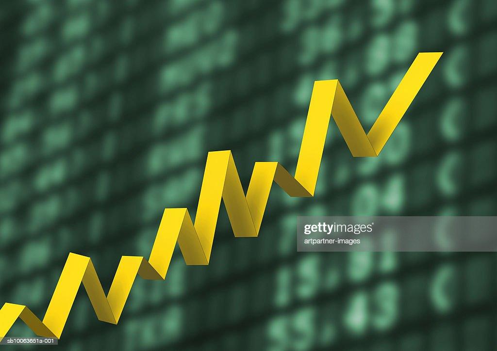 Graph Showing Upward Trend : ストックイラストレーション