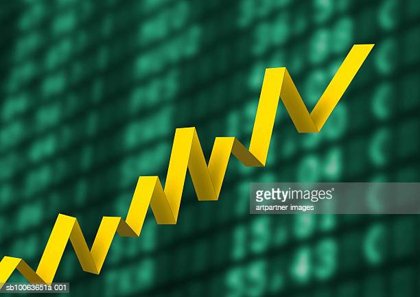 graph showing upward trend - growth stock illustrations