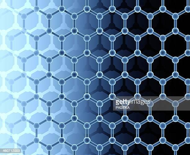 graphene sheet artwork - nanotechnology stock illustrations, clip art, cartoons, & icons