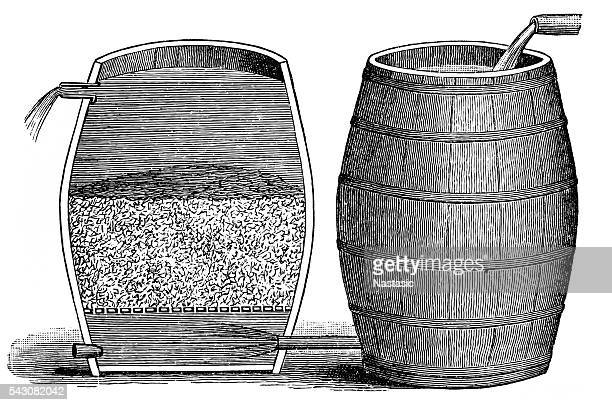gravel filter - anaerobic stock illustrations, clip art, cartoons, & icons