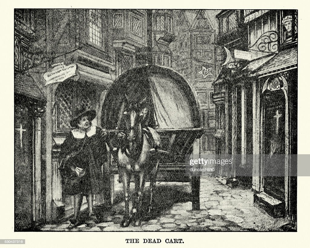 Great Plague of London - The Dead Cart : stock illustration
