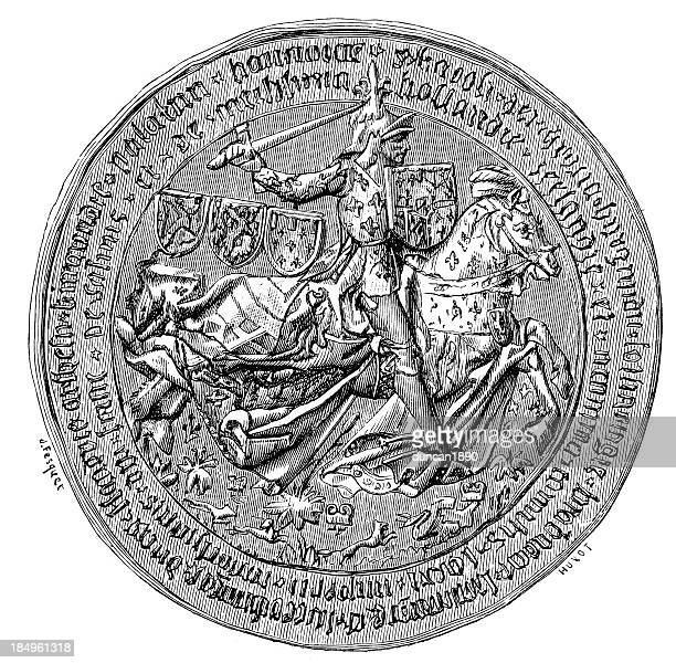 great seal of charles the bold - great seal stock illustrations, clip art, cartoons, & icons