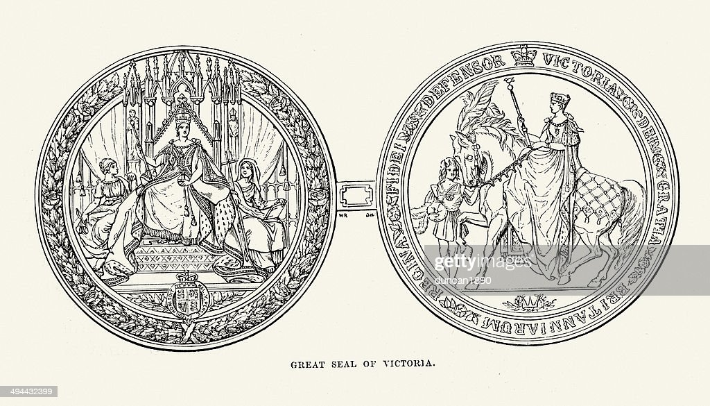 Great Seal of Queen Victoria : stock illustration