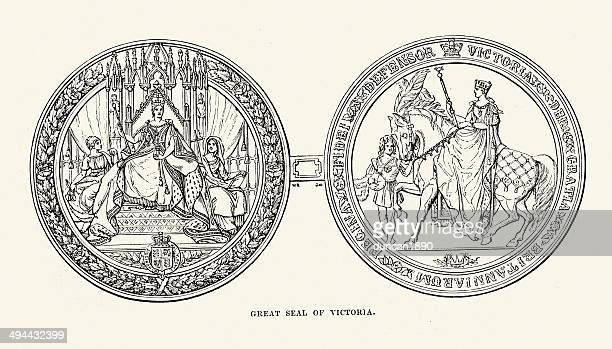 great seal of queen victoria - great seal stock illustrations, clip art, cartoons, & icons