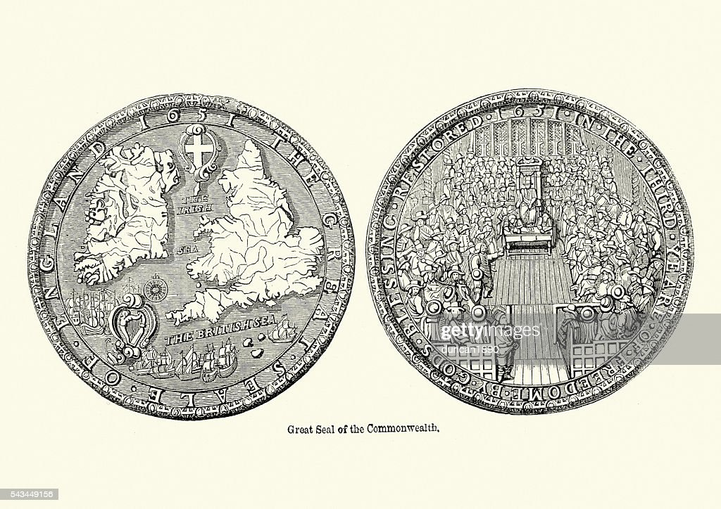 Great Seal of the Commonwealth of England : stock illustration