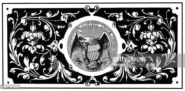 ilustrações, clipart, desenhos animados e ícones de grande colônia dos estados unidos - great seal