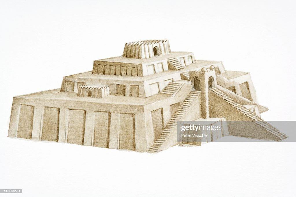 great ziggurat of ur mesopotamian temple built in ancient iraqi city