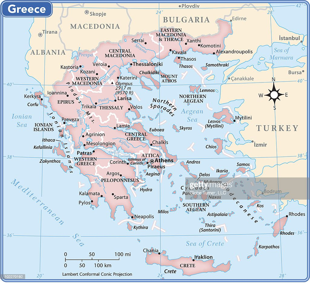 Country Of Greece Map.Greece Country Map Vector Art Getty Images