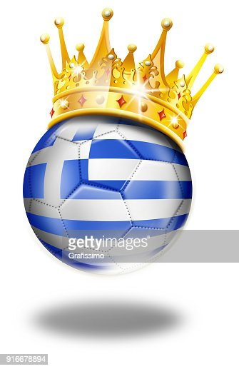 Greece Soccer Ball With Greek Flag And Crown Isolated On White Stock  Illustration  a29ec3a9e6