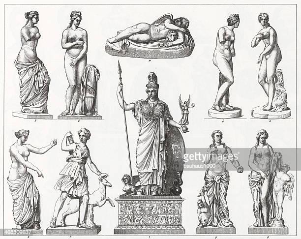 Grego e Roman Estátuas gravação
