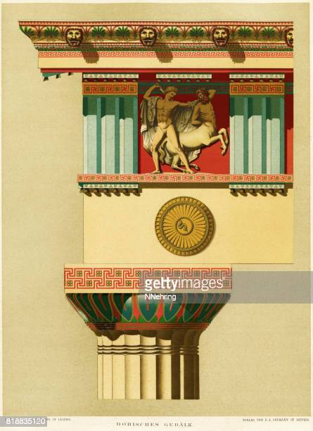 Greek Doric architectural detail from Parthenon