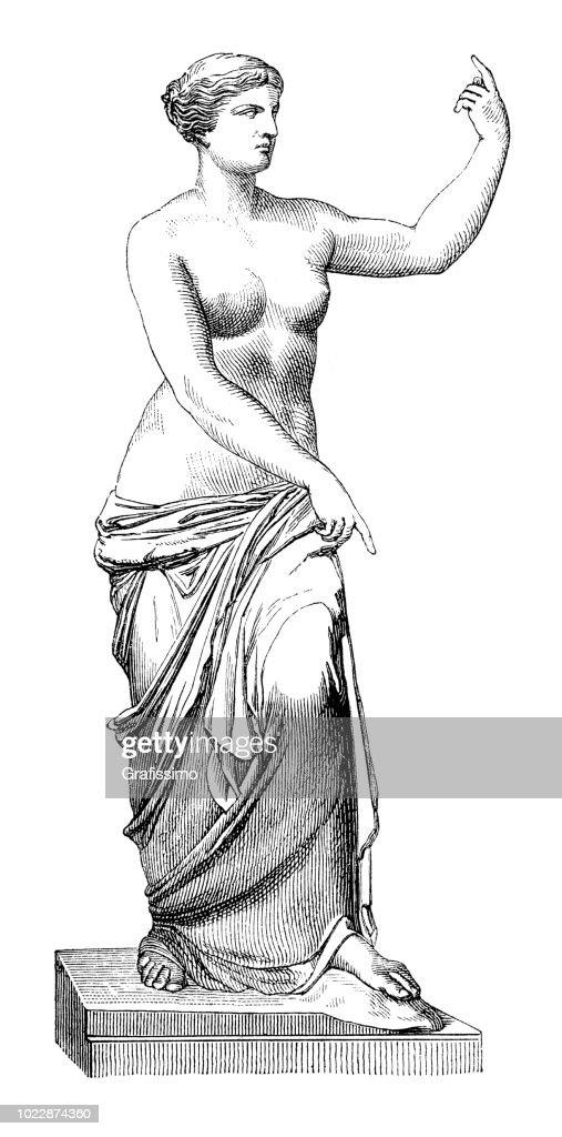 Greek goddess of Love Aphrodite at Melos : stock illustration