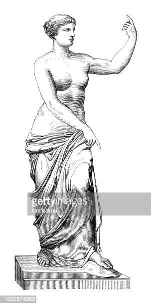 greek goddess of love aphrodite at melos - roman goddess stock illustrations, clip art, cartoons, & icons