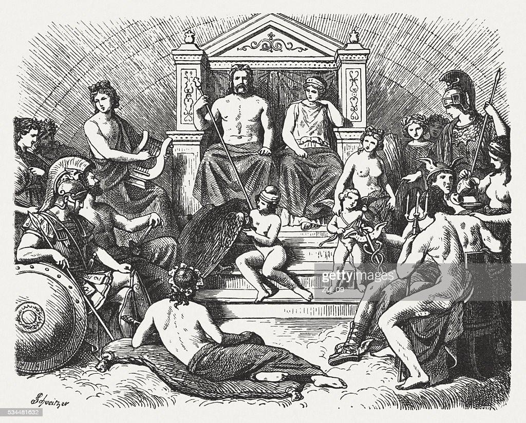 Greek Gods In The Olymp Greek Mythology Published In 1880